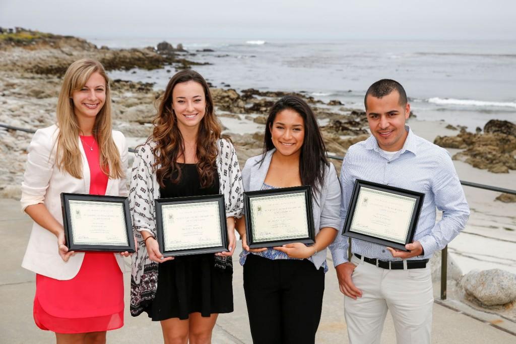 Morse Scholarship Winners (Lucido, Bernier, Jimenez, Jacuinde)