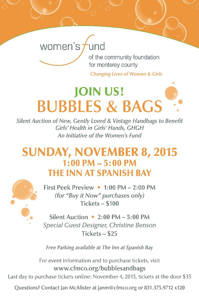 Bubbles and Bags 2015 Invitation