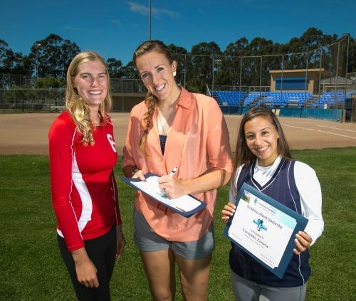 Monica Abbott with Two Winners