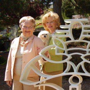 Lenore and Dale Meyer with Sculpture