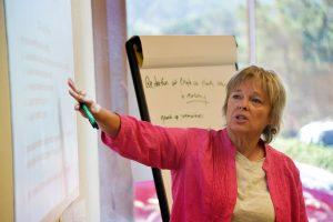 Workshop participant presenting