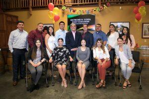 Raymond H Costa Family Scholarship recipients