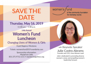2019 Women's Fund Save the Date May 16