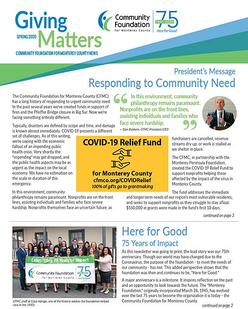 CFMC Spring 2020 Newsletter