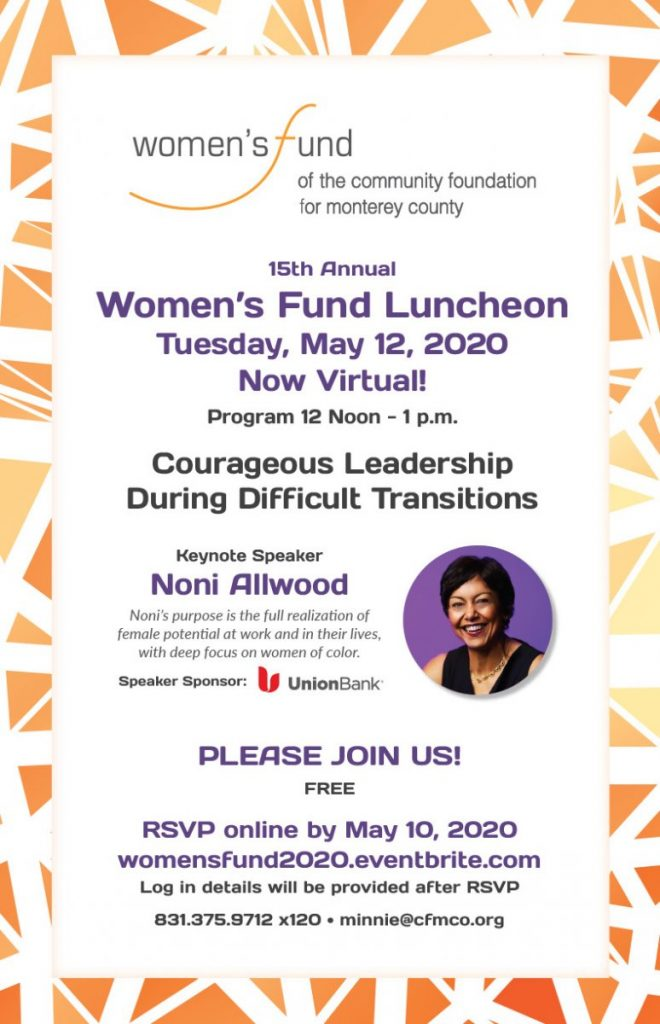 Women's Fund Lunch May 12, online
