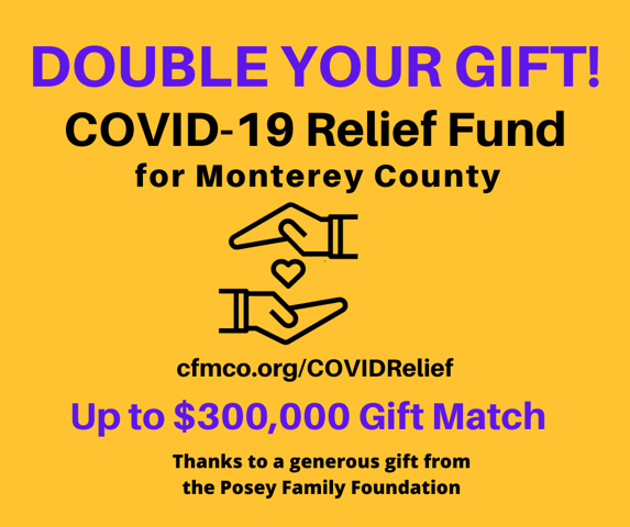 $300,000 COVID-19 Relief Fund Matching Gift from Posey Family Foundation