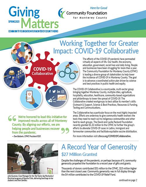 CFMC Spring 2021 Giving Matters News